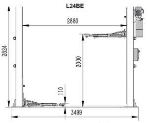 Dimensiuni elevator L24BE
