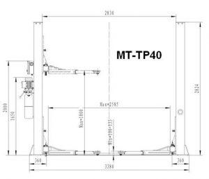 Dimensiuni elevator MT-TP40